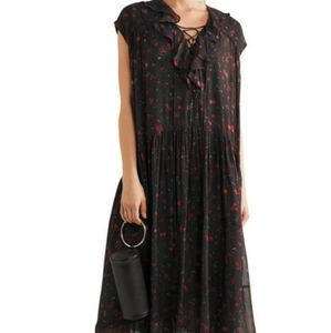 IN SEARCH OF IRO JANIE PRINTED GEORGETTE DRESS